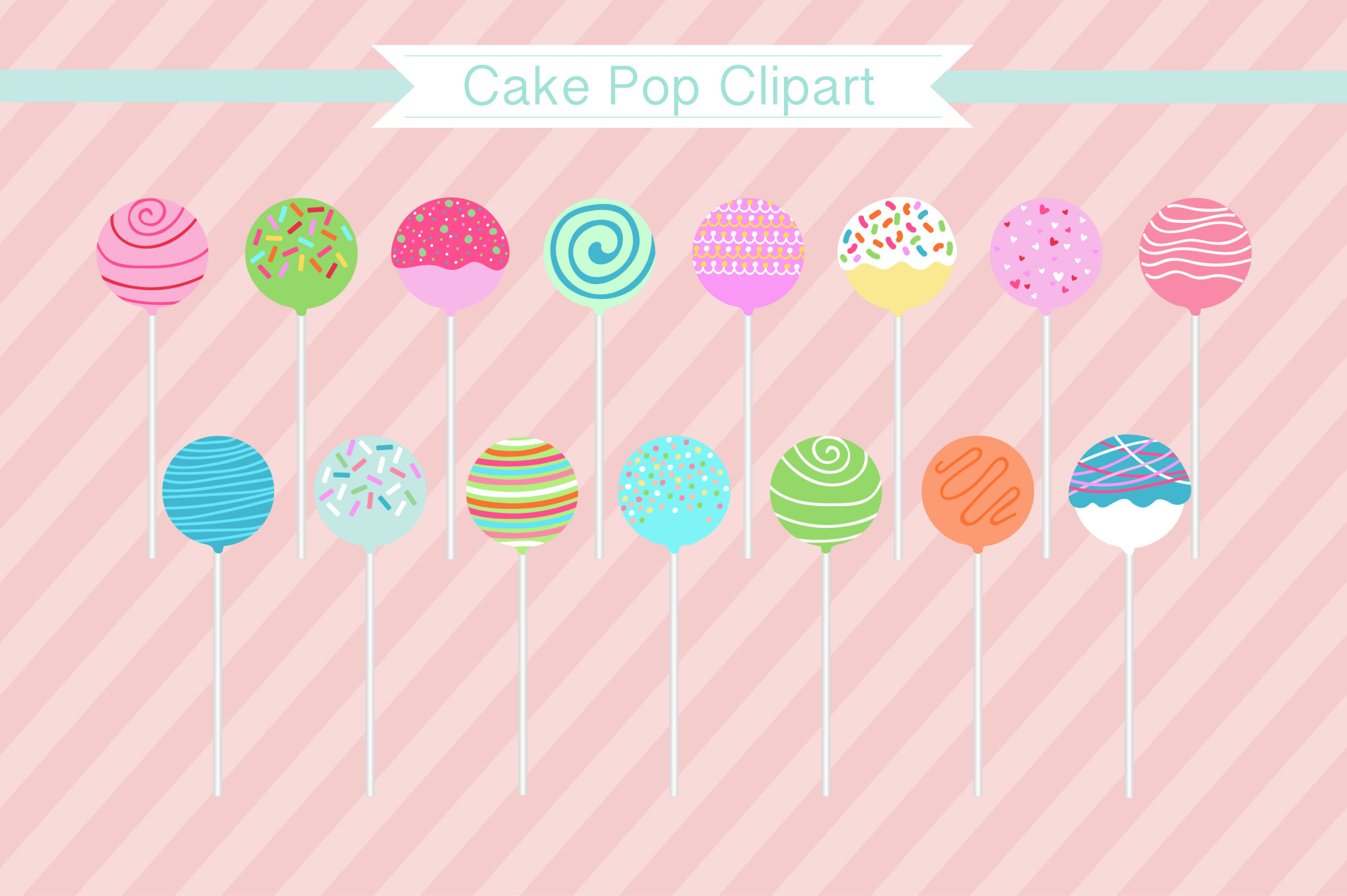 Cake Pop Clipart, Cake Pops example image 1