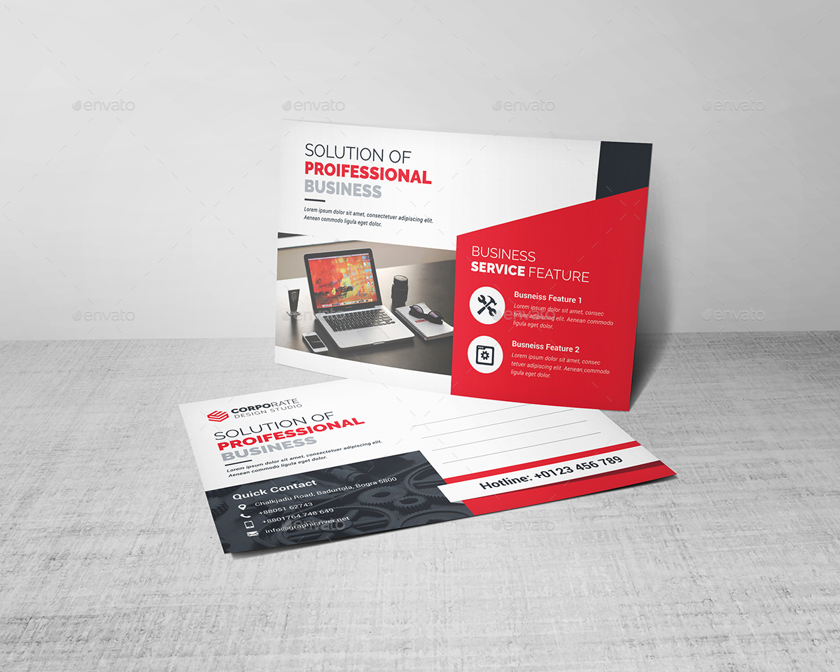 Corporate Business Postcard Template example image 2