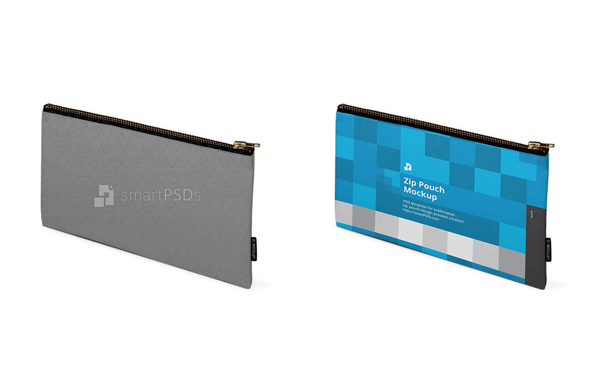 Zip Pouch Sublimation Design Mockup - 4 Views example image 3