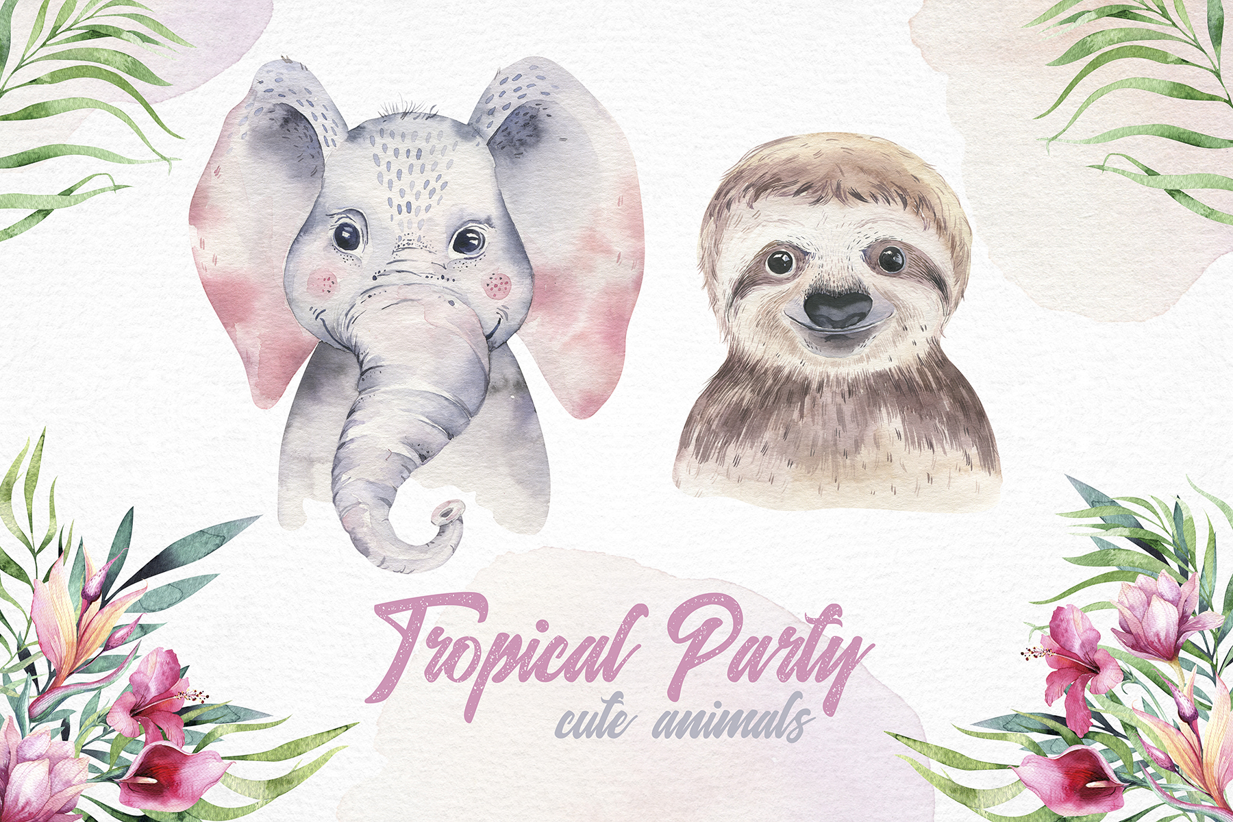 Cute friends II. Tropical party example image 3