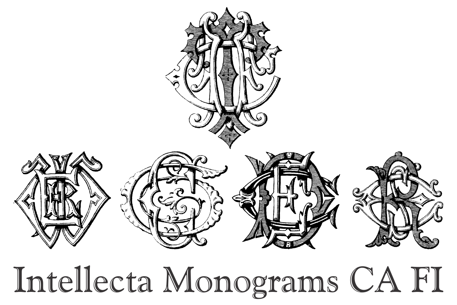 Intellecta Monograms CA FI example image 3