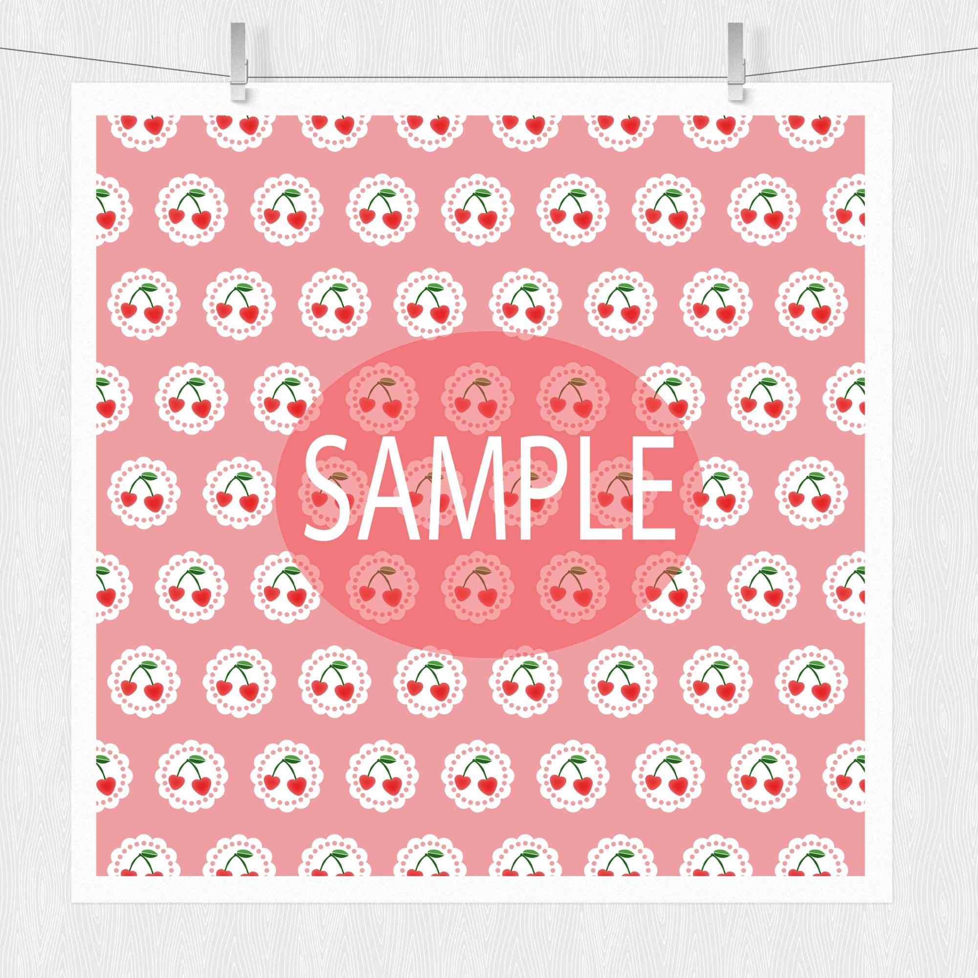 Cherry Digital Paper - Cottage Chic example image 3