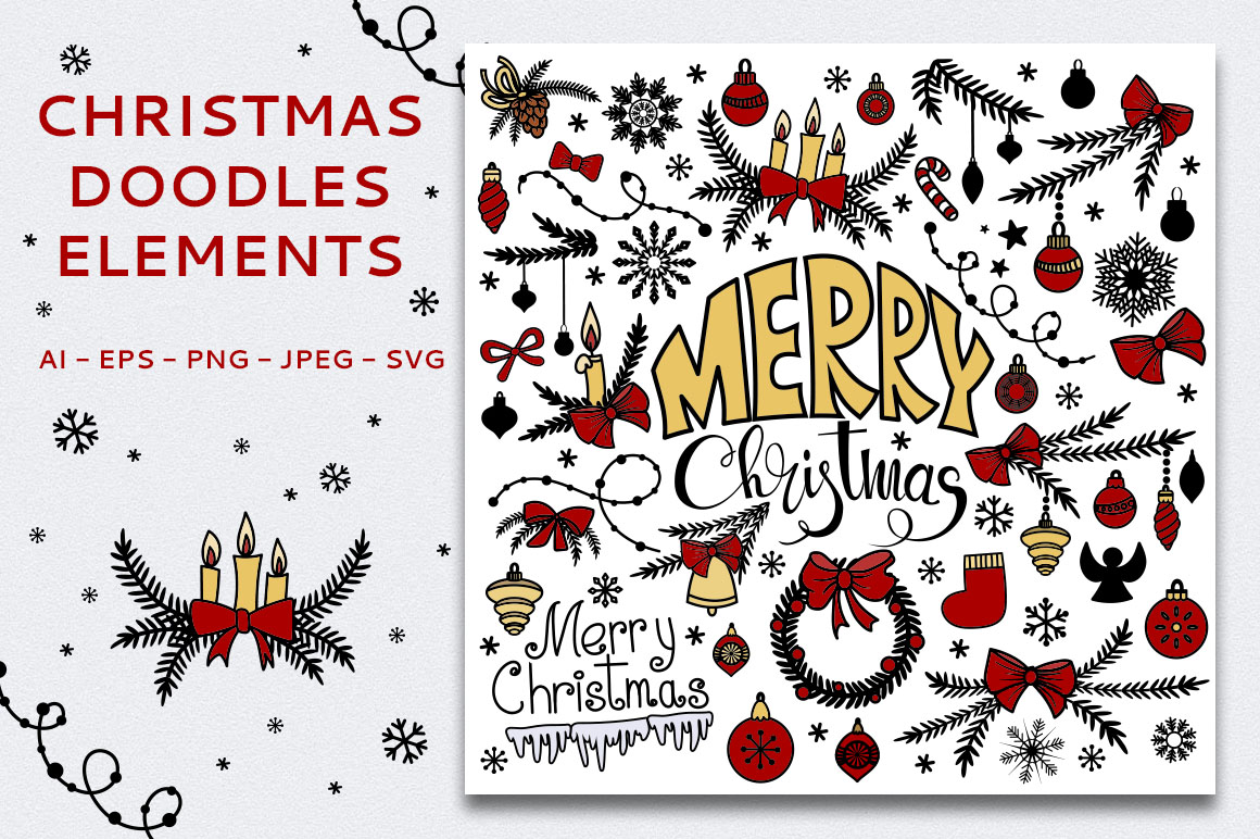 Christmas Seamless Patterns example image 3