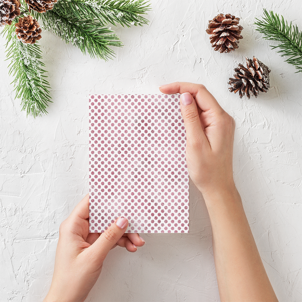 20 Seamless Foil Dot Patterns for Christmas example image 3