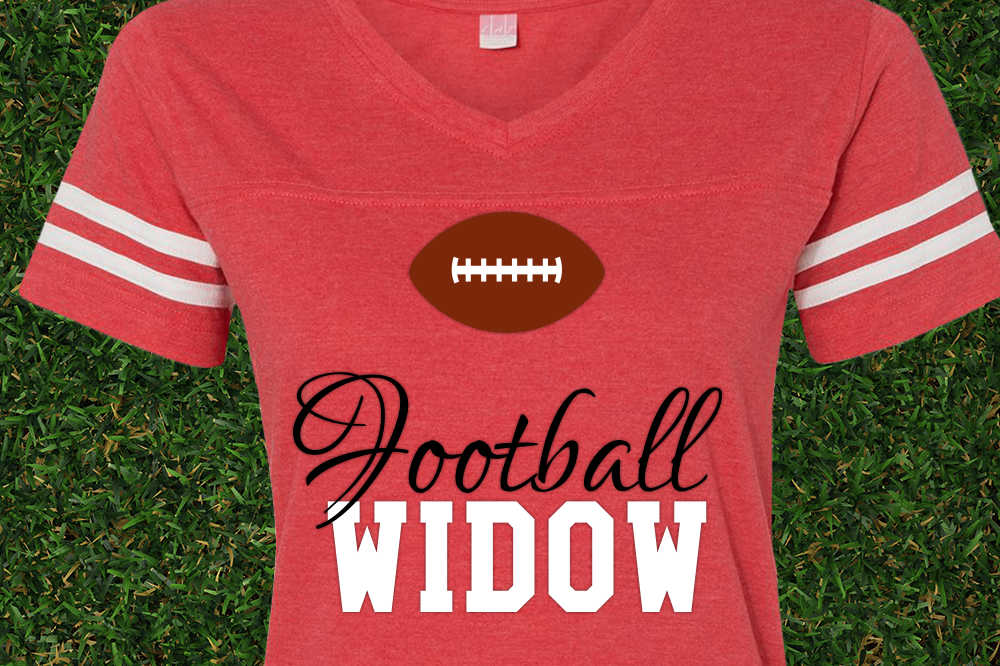 Football Widow SVG File Cutting Template example image 1