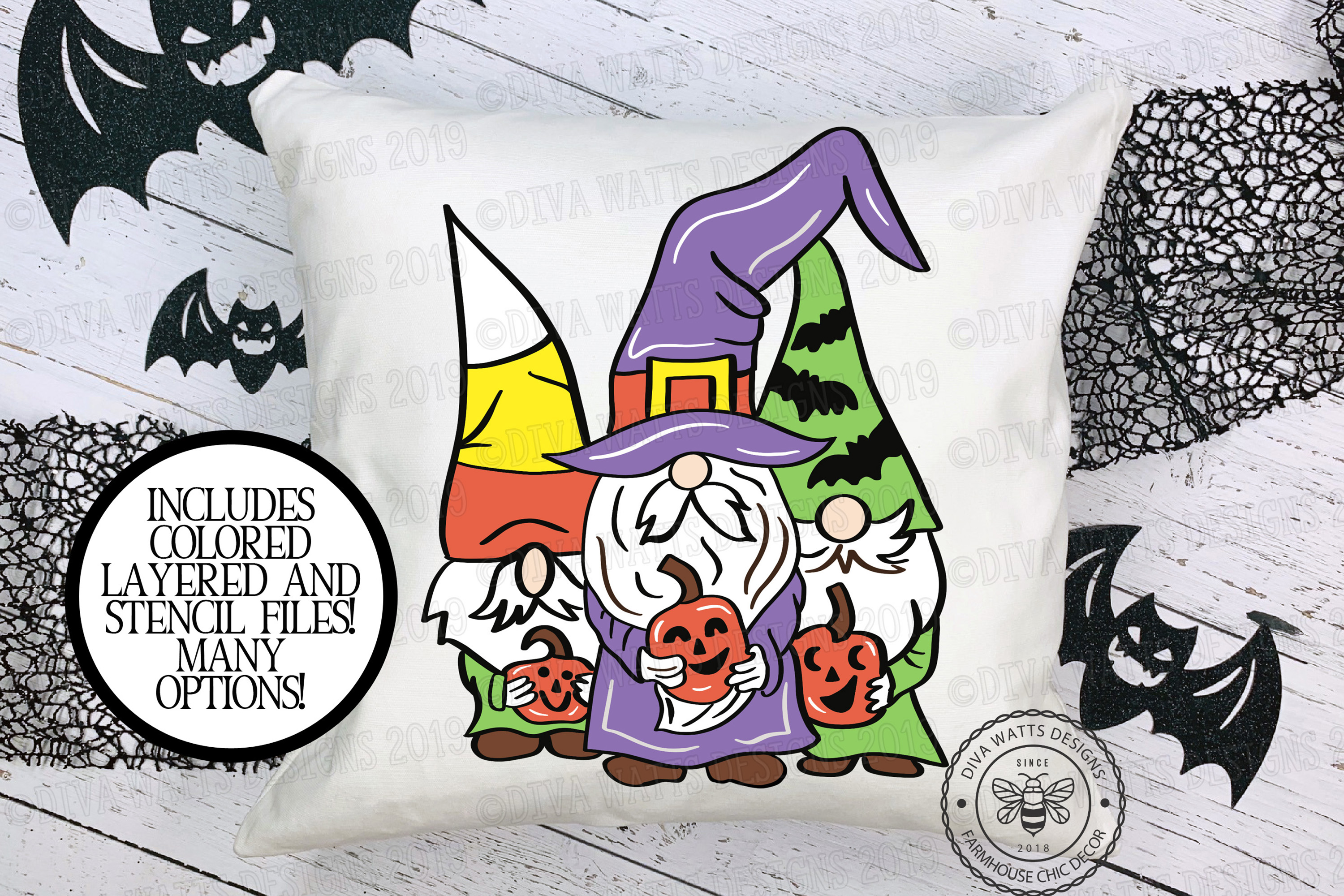 Halloween Gnomes Gnome Crew Cutting File example image 1
