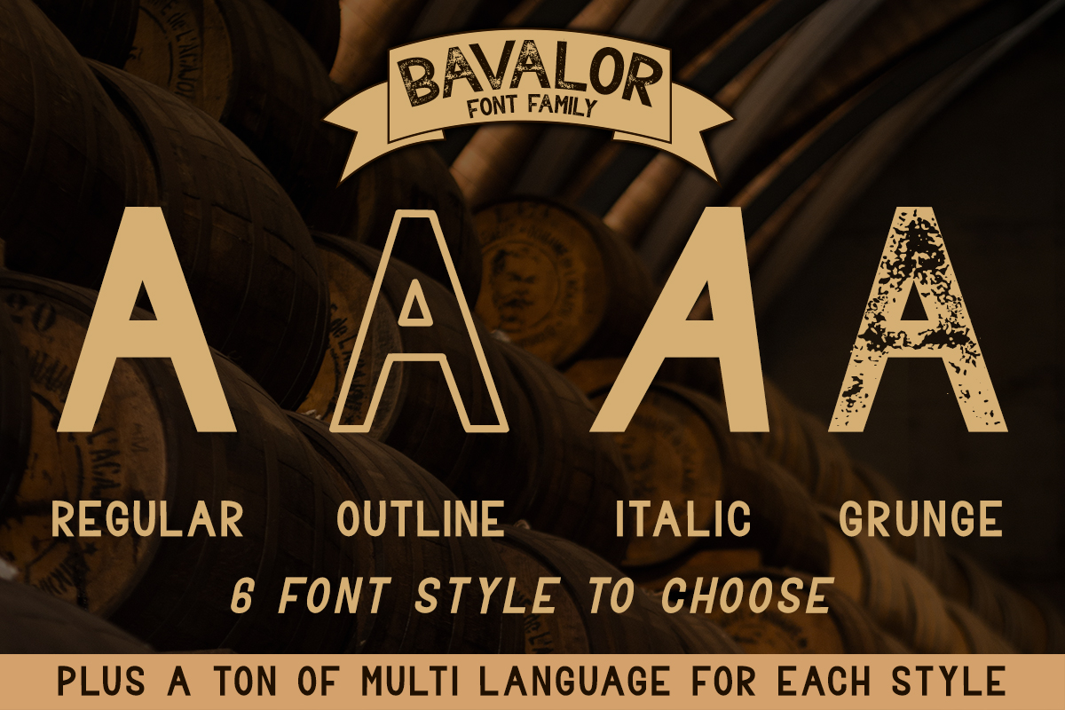 BAVALOR - ALL CAPS FONT FAMILY WITH EXTRAS example image 2