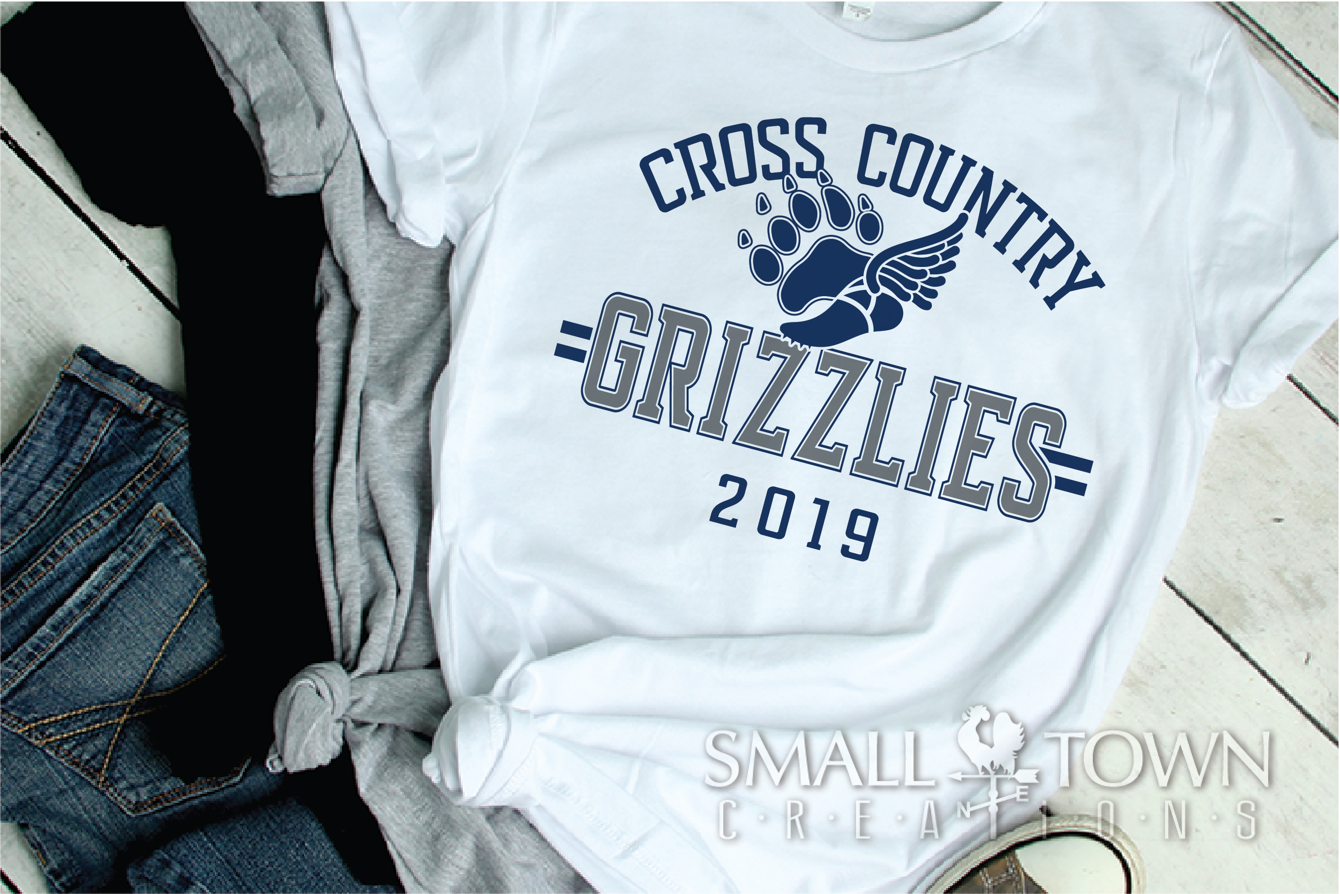 Grizzlies Cross Country, Sports, Logo, PRINT, CUT & DESIGN example image 2