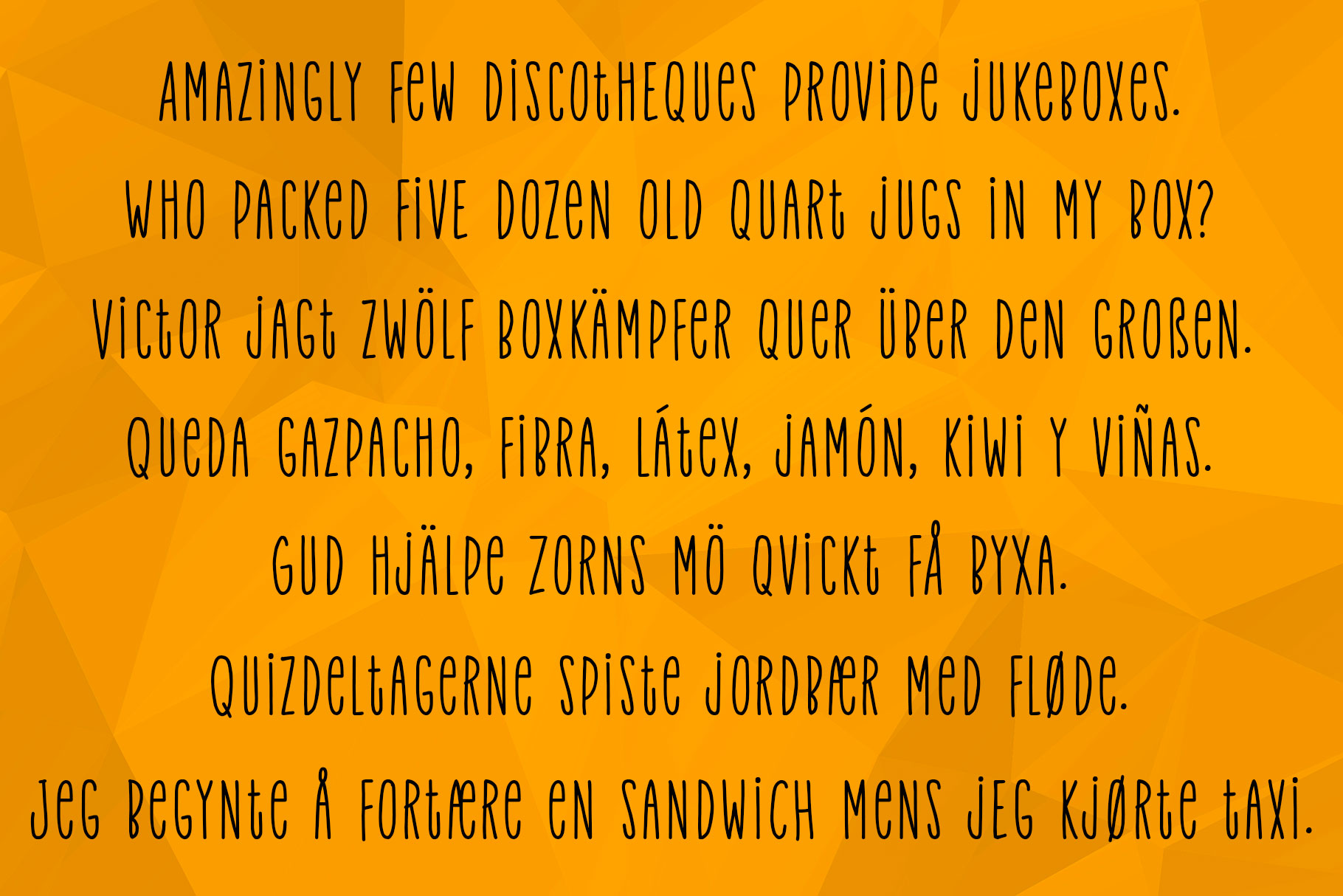 Velvet Pants: a tall, narrow caps font! example image 6