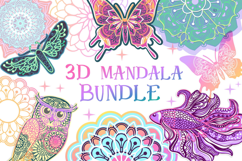 Download 3D Mandala Bundle | 3D Papercut SVG