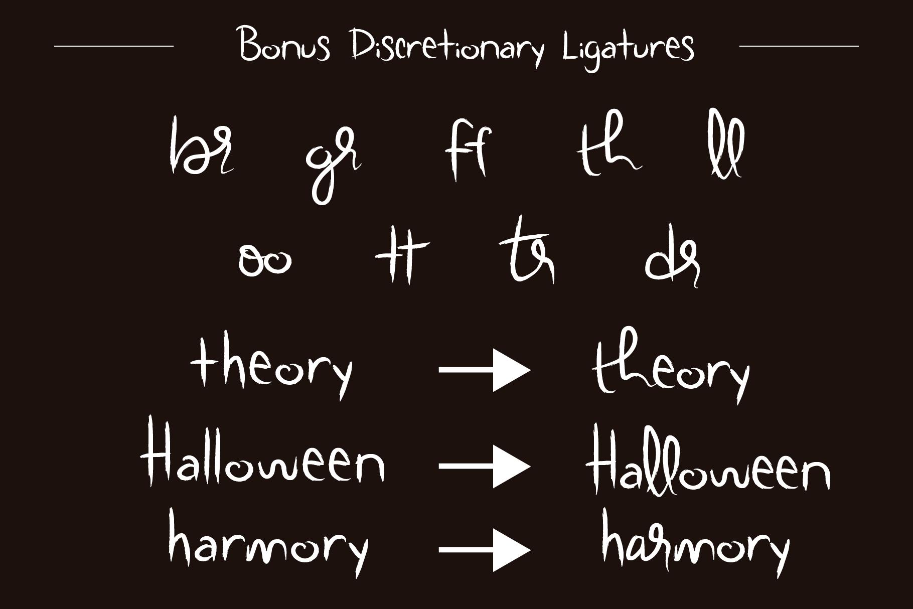 Scratchy Door Halloween Font example image 4