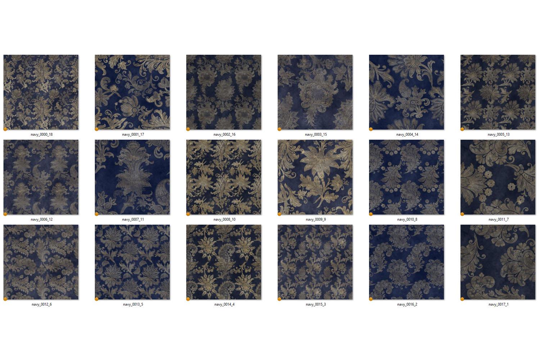 Navy Floral Velvet Digital Paper example image 4