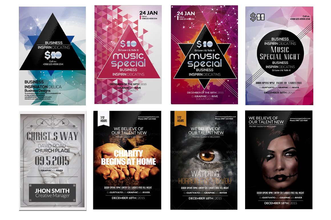 100 Party Flyers Bundle example image 13
