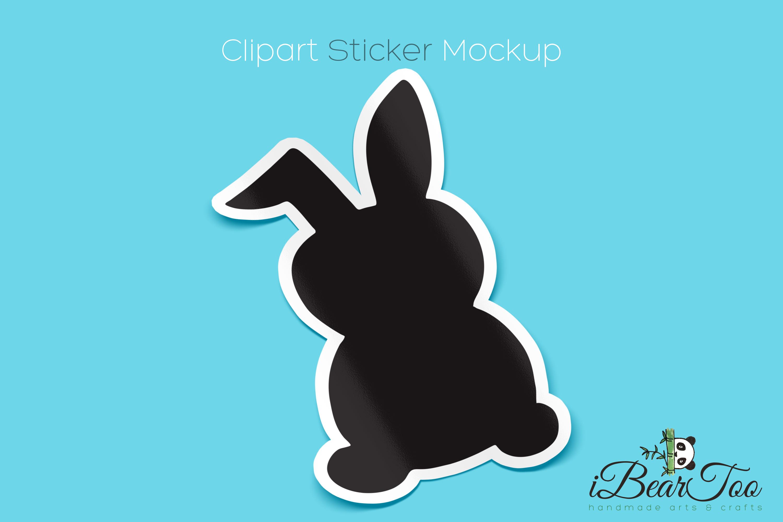 Rabbit SVG Black Clipart Bunny Drawing Vector Cut Files example image 8