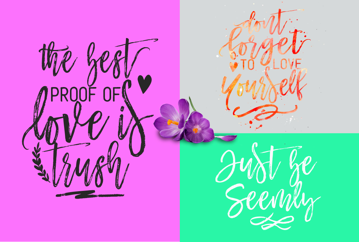 Mustache Script Font Trio & Swash example image 4