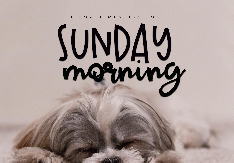 Sunday Morning - Script Font example image 7