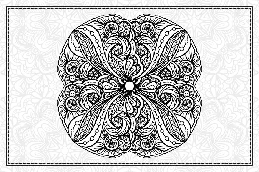 Black and white mandalas set example image 4