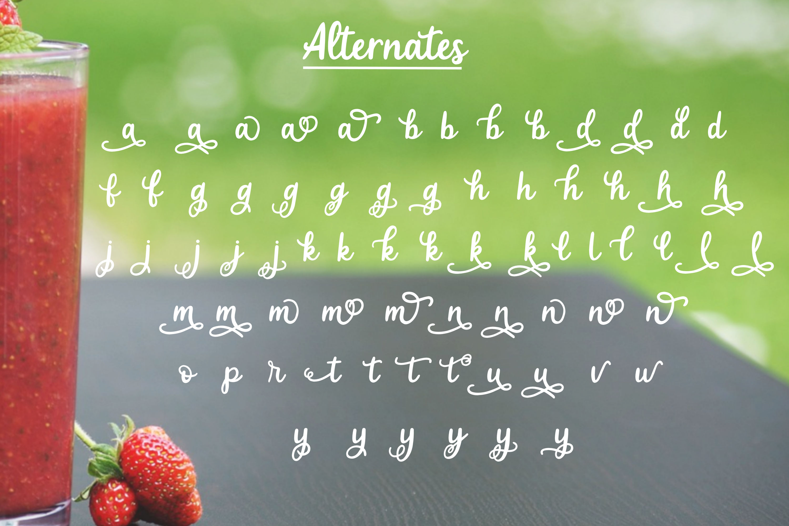 Strawberry Smoothie- A handlettered script font example image 4