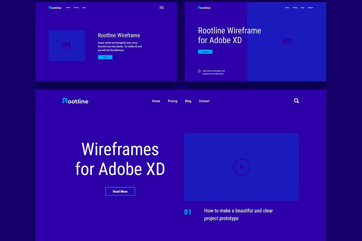 Rootline Wireframe UI Kit example image 4