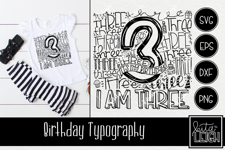 Birthday Typography Bundle example image 4