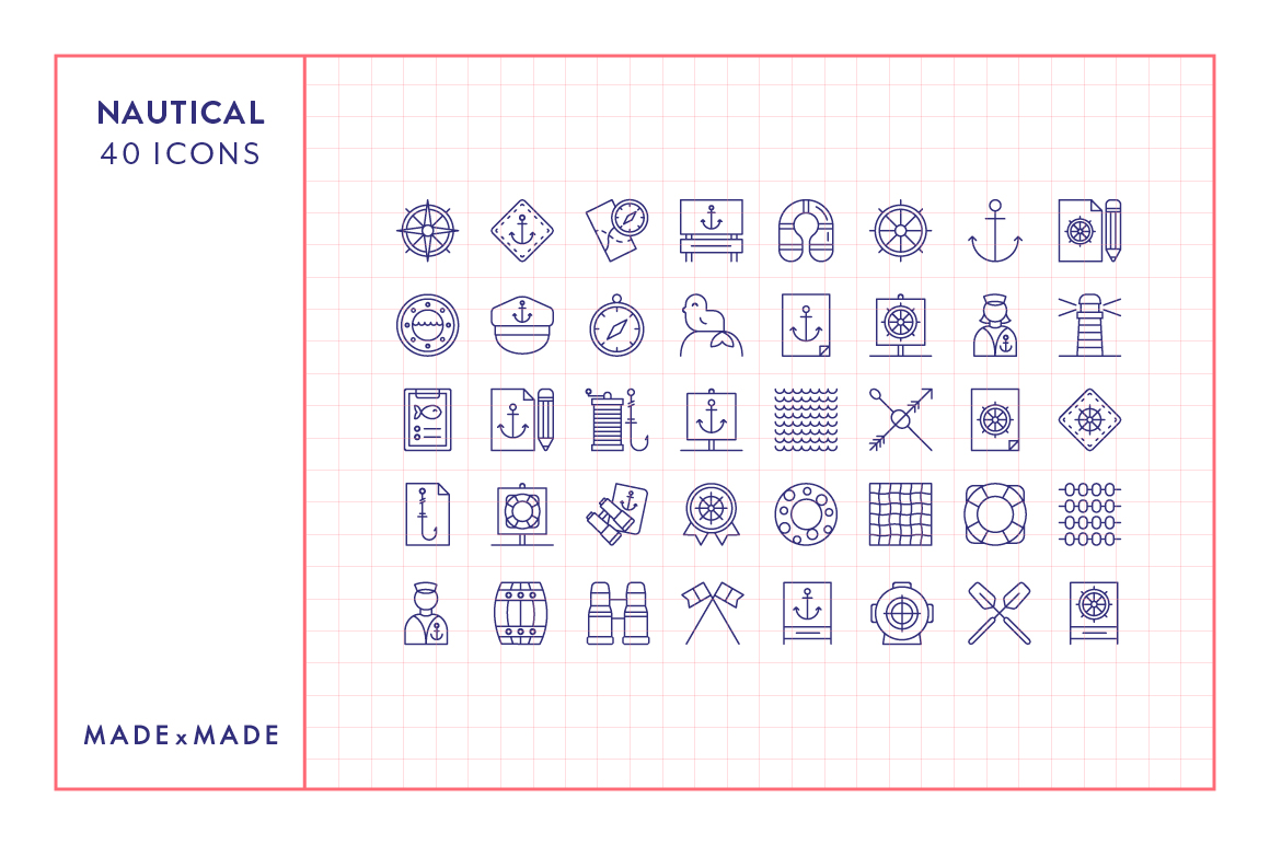 Line Icons - Nautical example image 4
