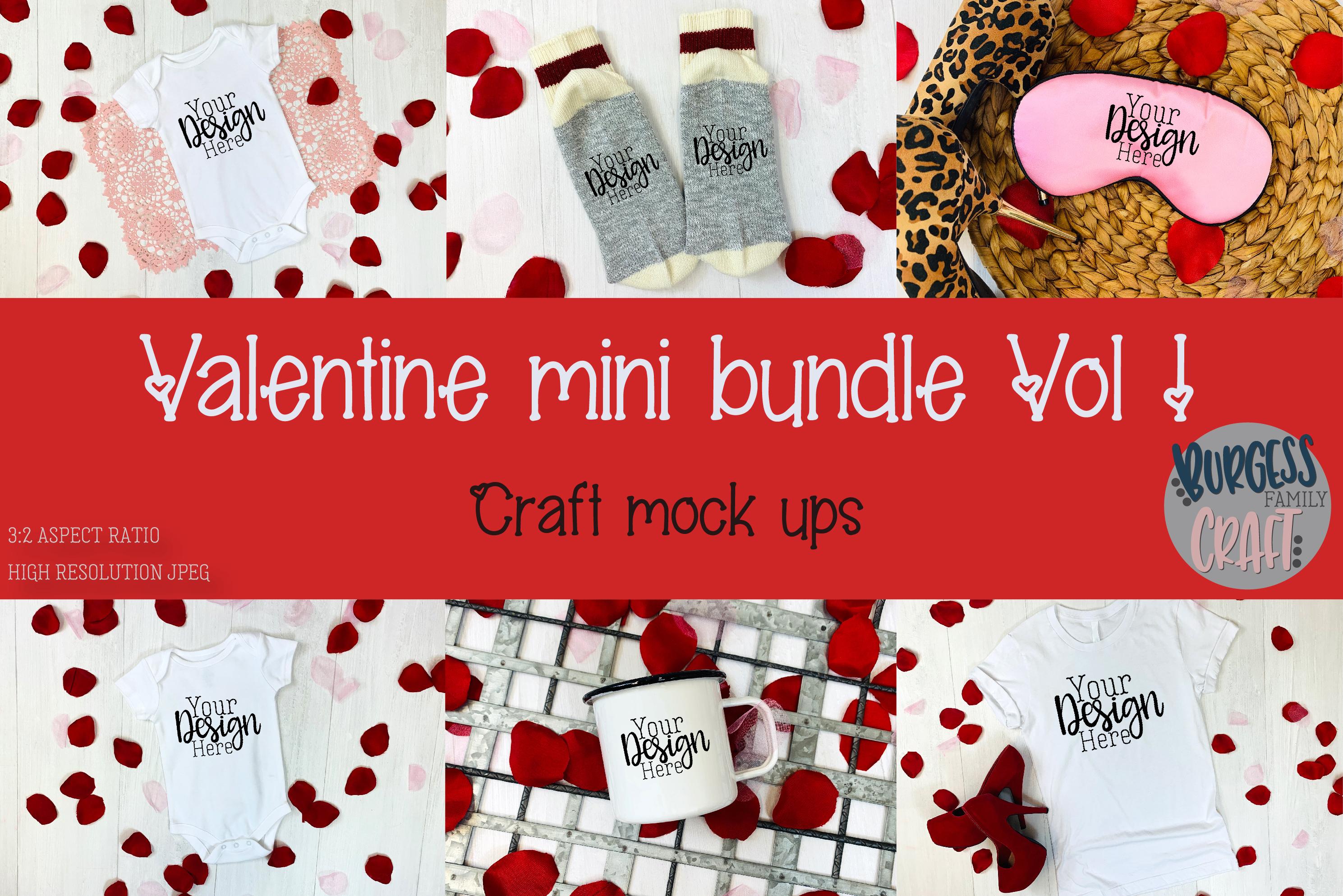 Valentine Mini Bundle Vol I | Craft mock ups example image 1