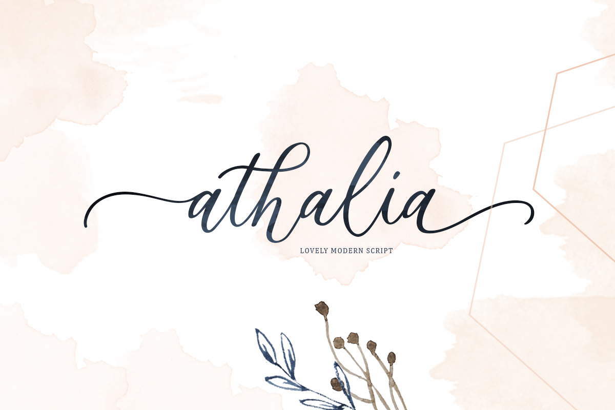 Athalia - Modern Calligraphy Script example image 1