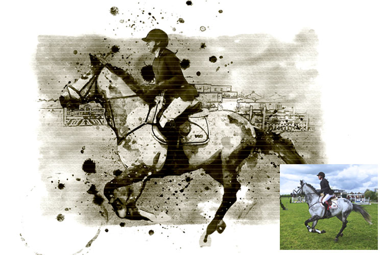 Water-Ink Photoshop Action example image 14