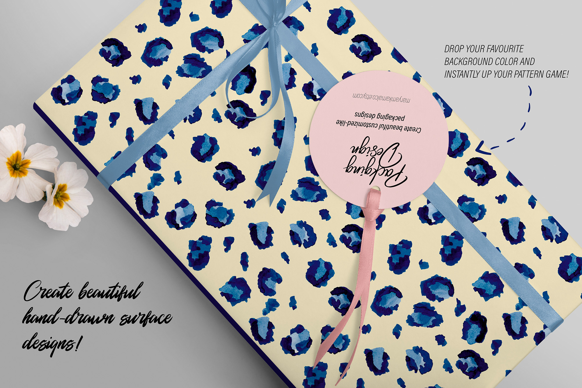 Blueberry Watercolor Pattern Collection example image 6