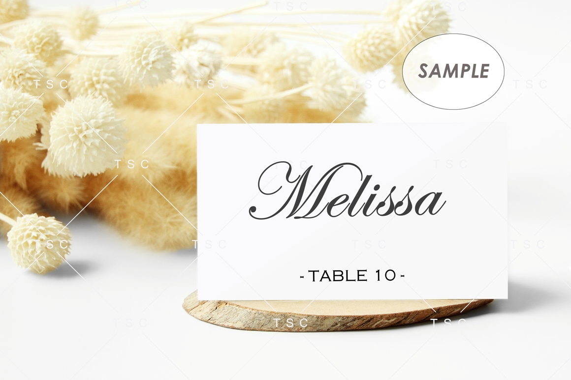 """3.5"""" x 2"""" Card Mockup / Place Card / Business Card Mockup example image 2"""