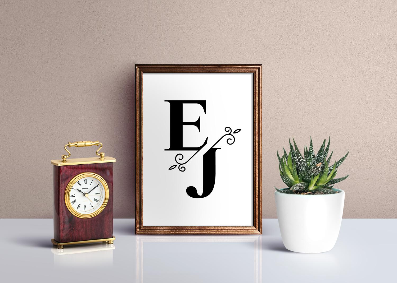 Split Monograms Font example image 4