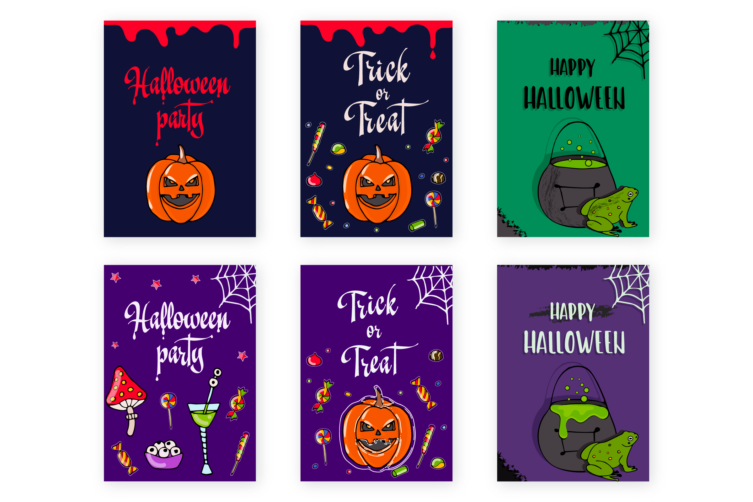 Halloween collection. Patterns, Elements, Posters example image 2
