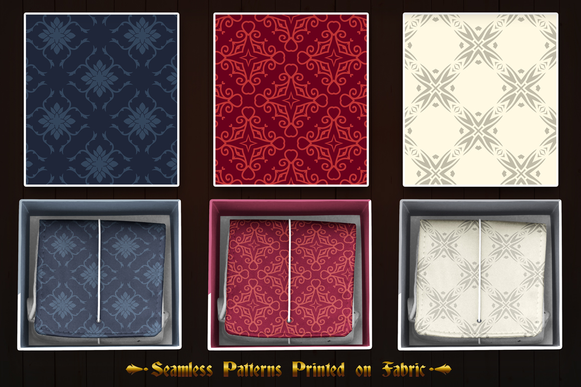 123 Vintage Seamless Vector Patterns example image 7