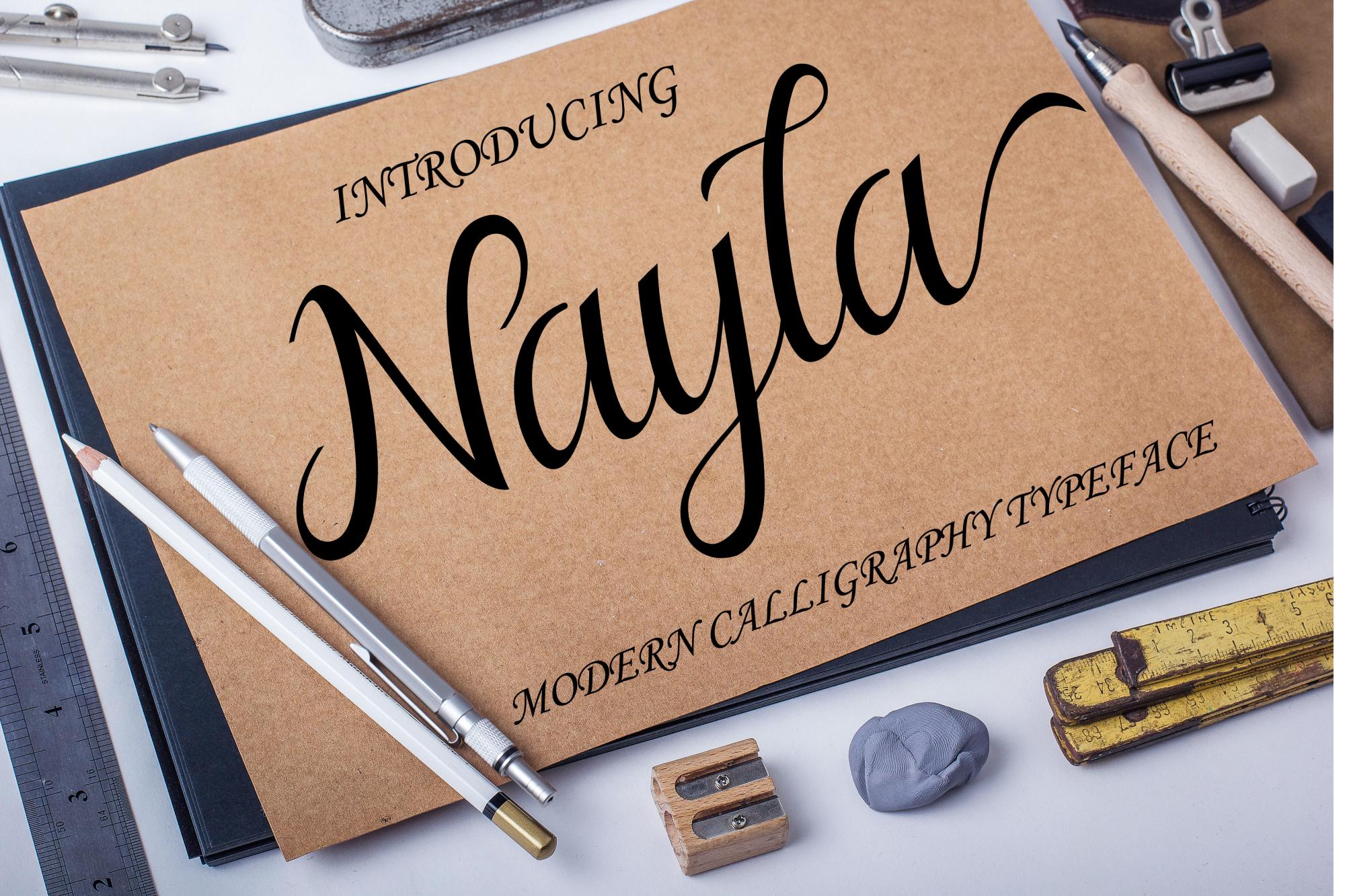 Nayla Script example image 8