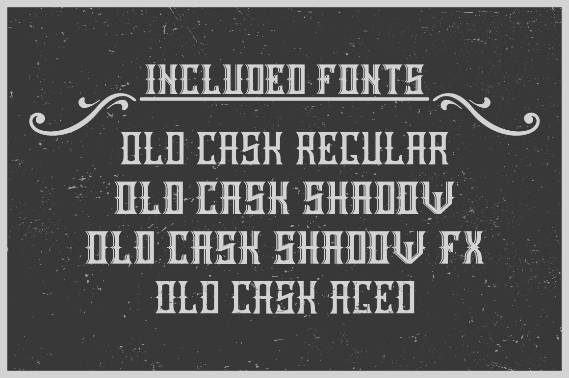 Handcrafted Old Cask label font example image 3