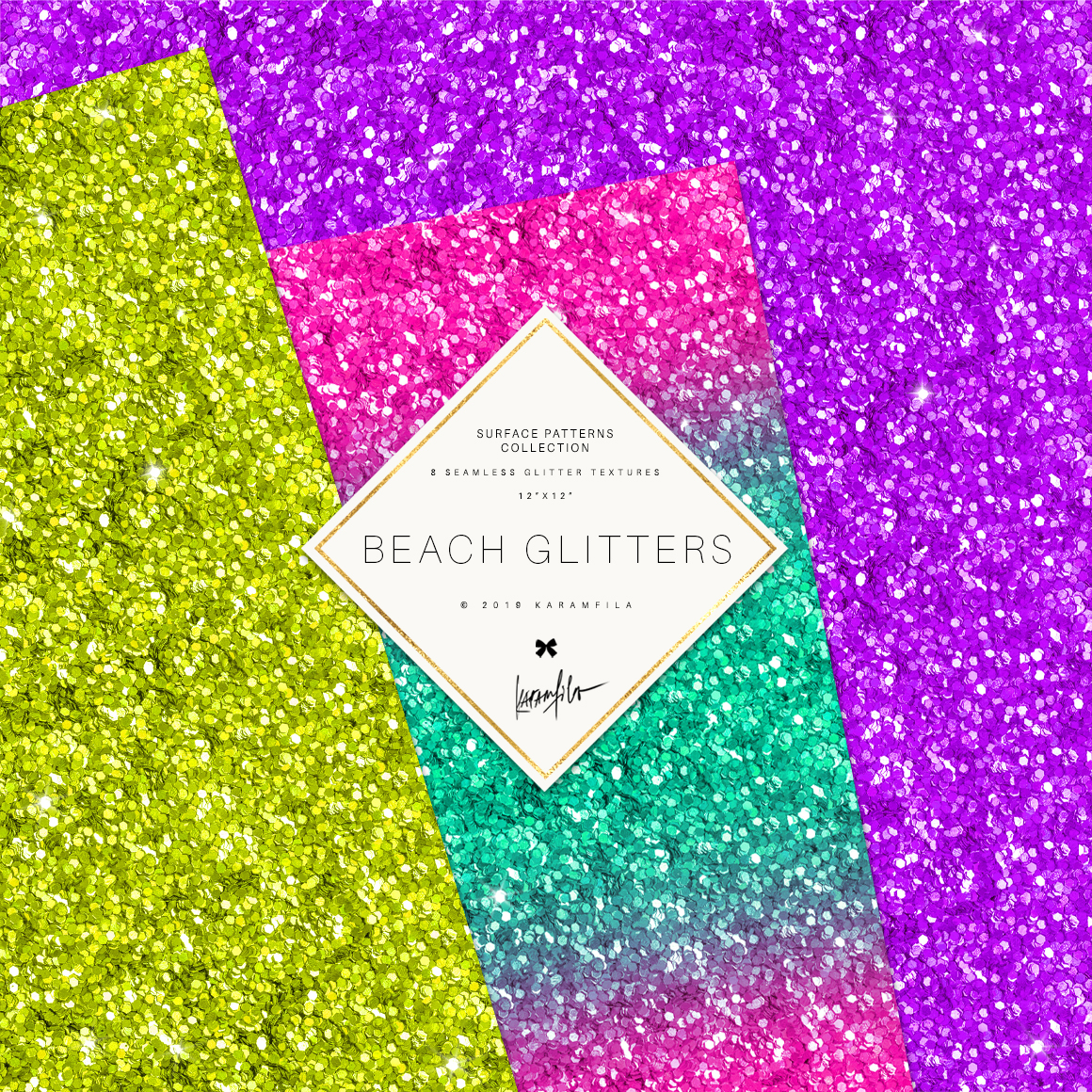 Glitter Waves Patterns example image 2