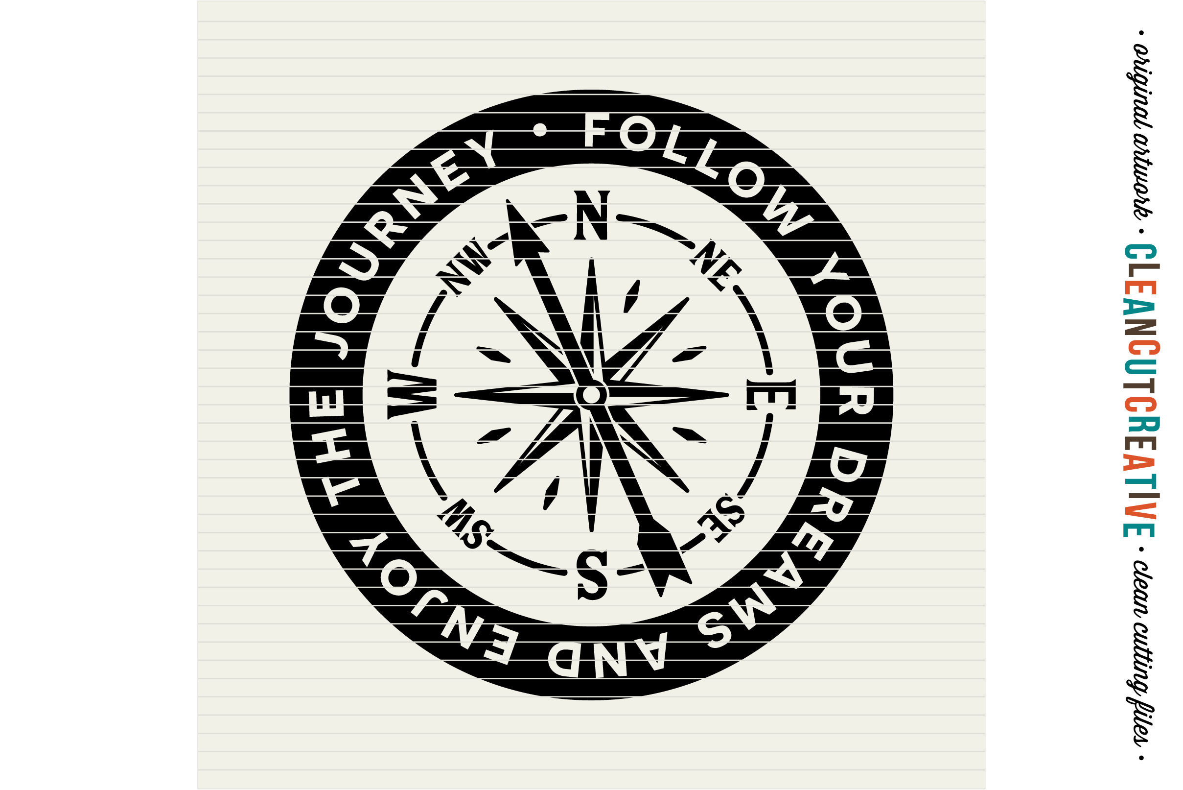 Follow Your Dreams and Enjoy the Journey - SVG DXF EPS PNG - Cricut & Silhouette - clean cutting files example image 2