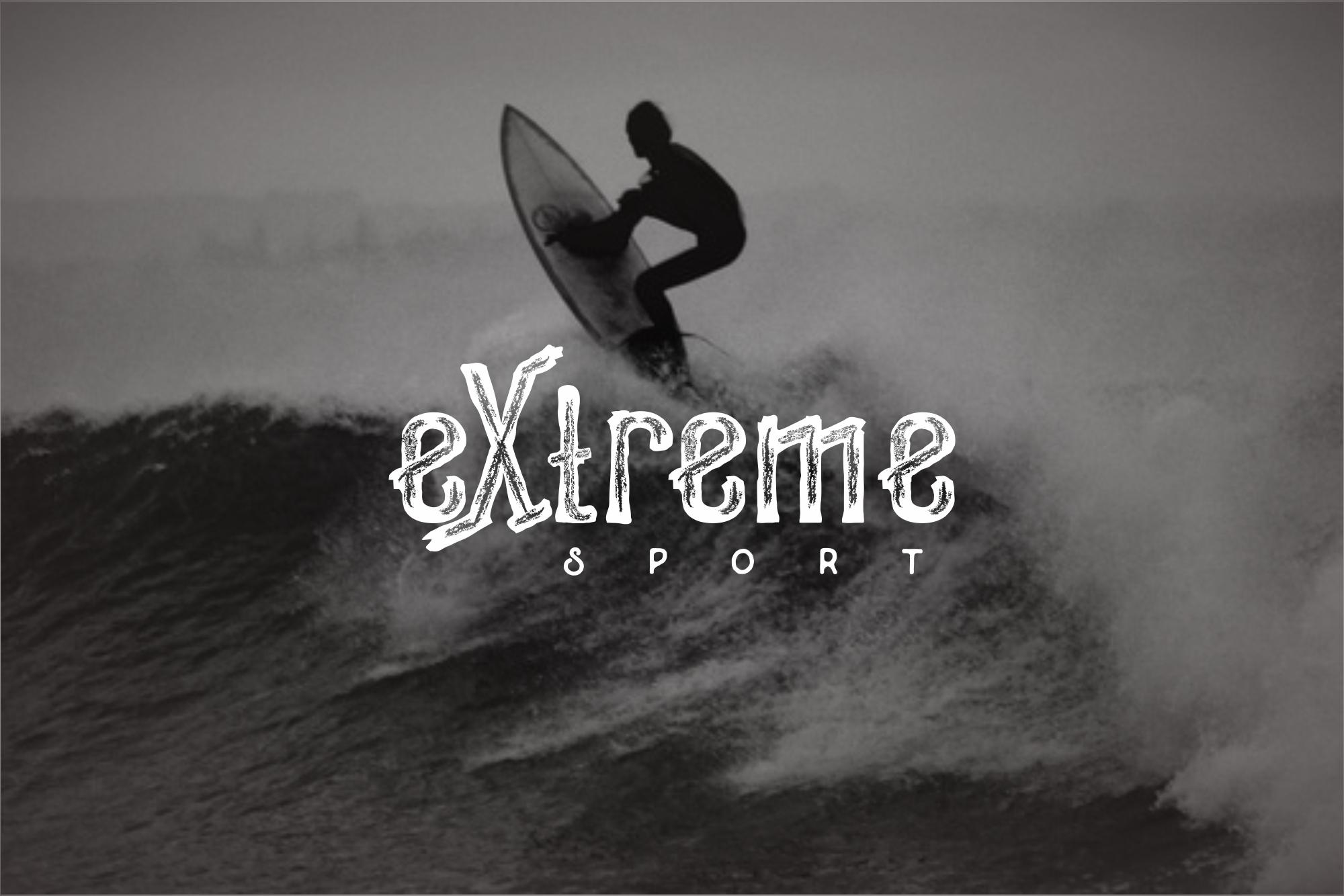 Woodystone extreme Typeface