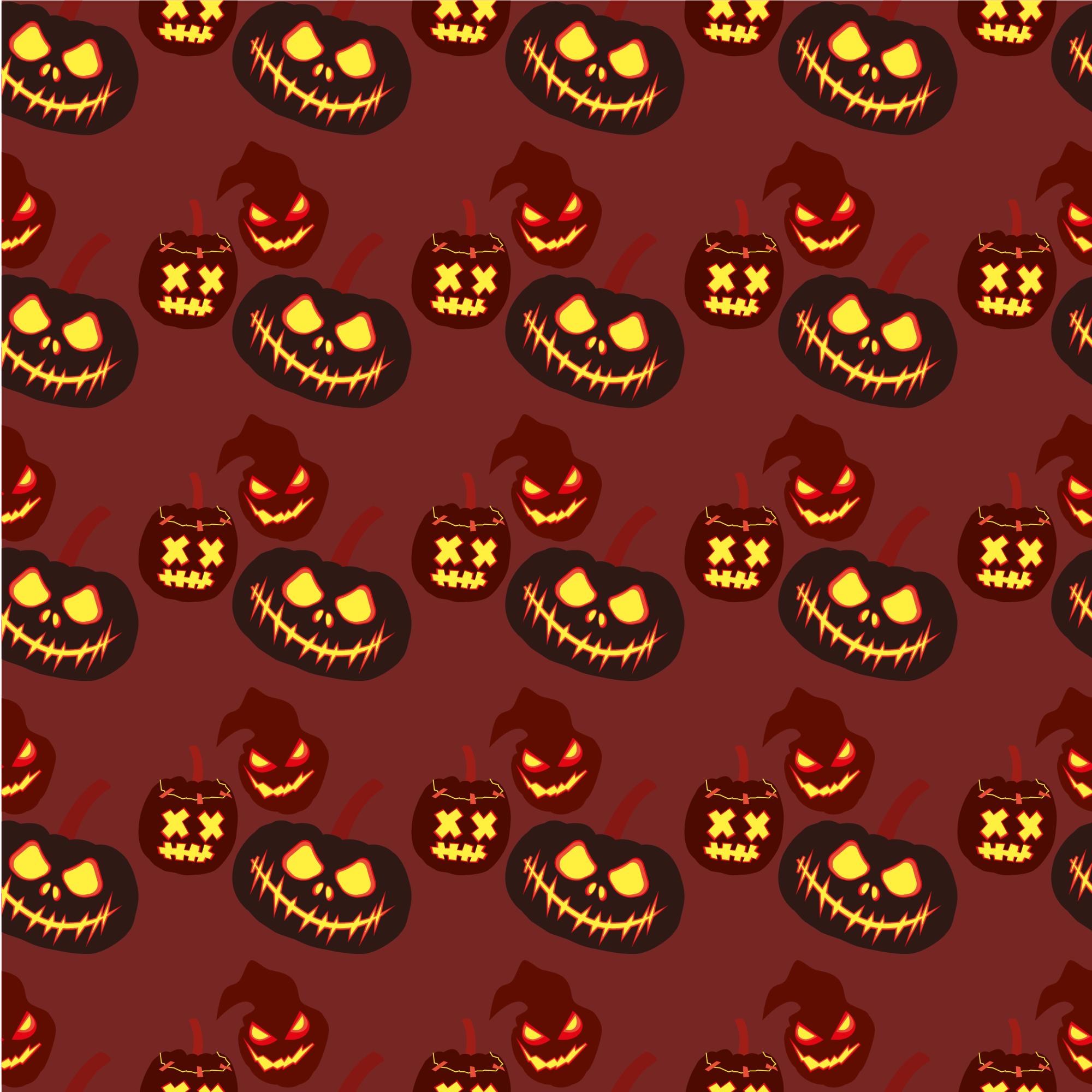 Set of 12 seamless vector backgrounds Happy Halloween.  example image 2