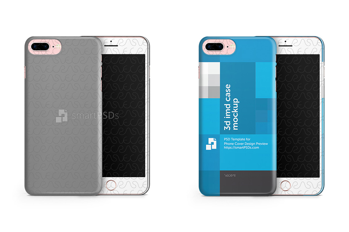 Apple iPhone 7 Plus 3d IMD Mobile Case Design mockup 2016 example image 1
