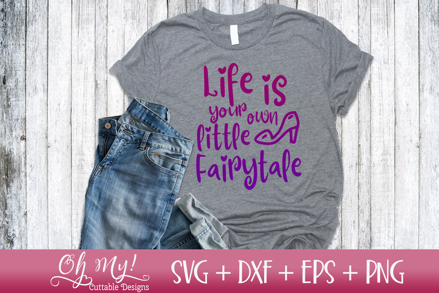 Life Is Your Own Little Fairytale - SVG DXF EPS PNG example image 2
