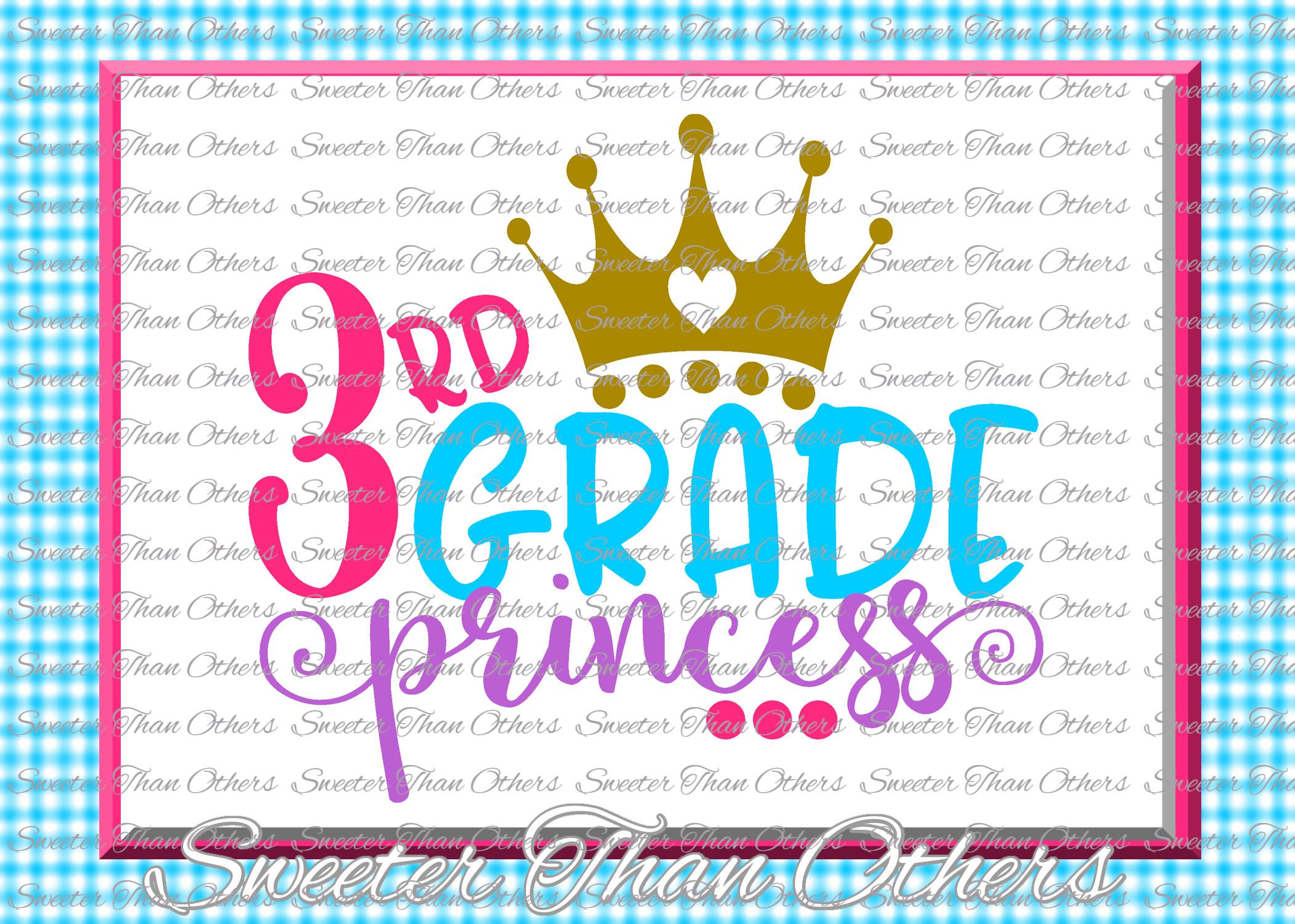 School Princess SVG Bundle Kindergarten First Day of School example image 4