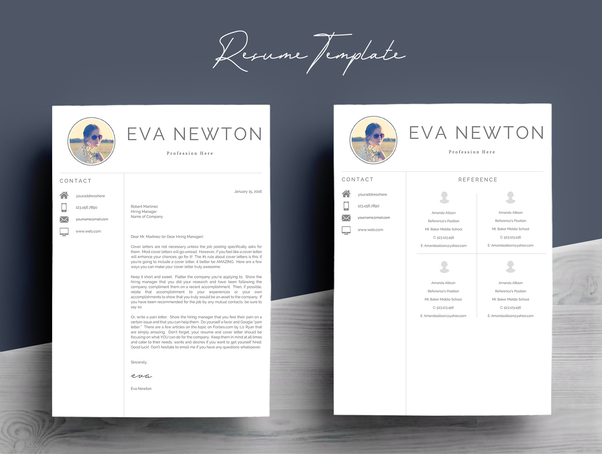Resume Template 4 Pages example image 7