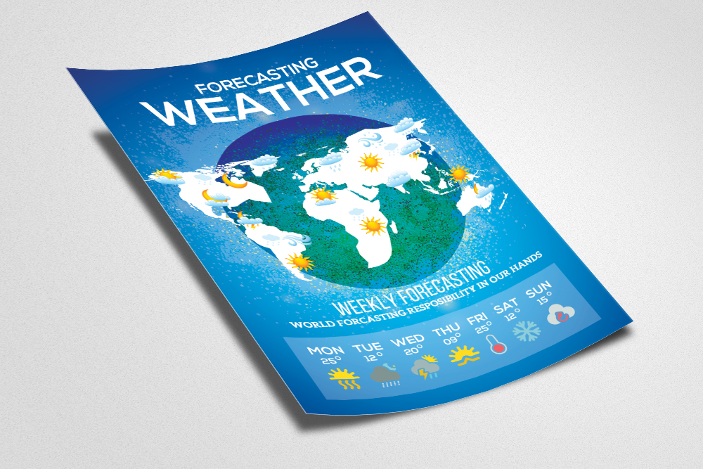 Weather Forcasting Flyer Template example image 2