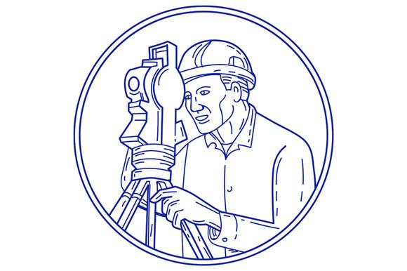 Surveyor Theodolite Circle Mono Line example image 1