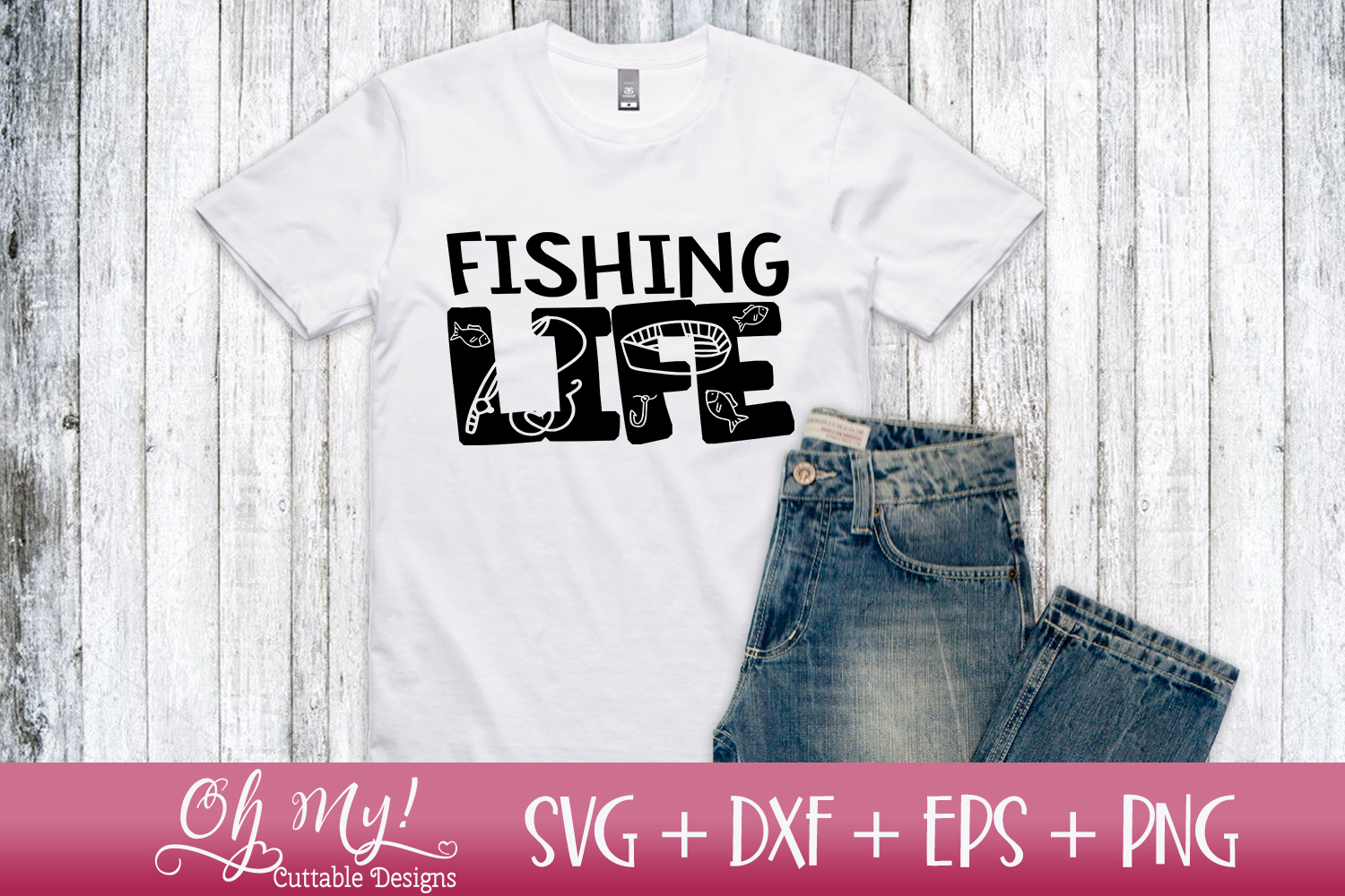 Fishing Life - SVG DXF EPS PNG example image 2