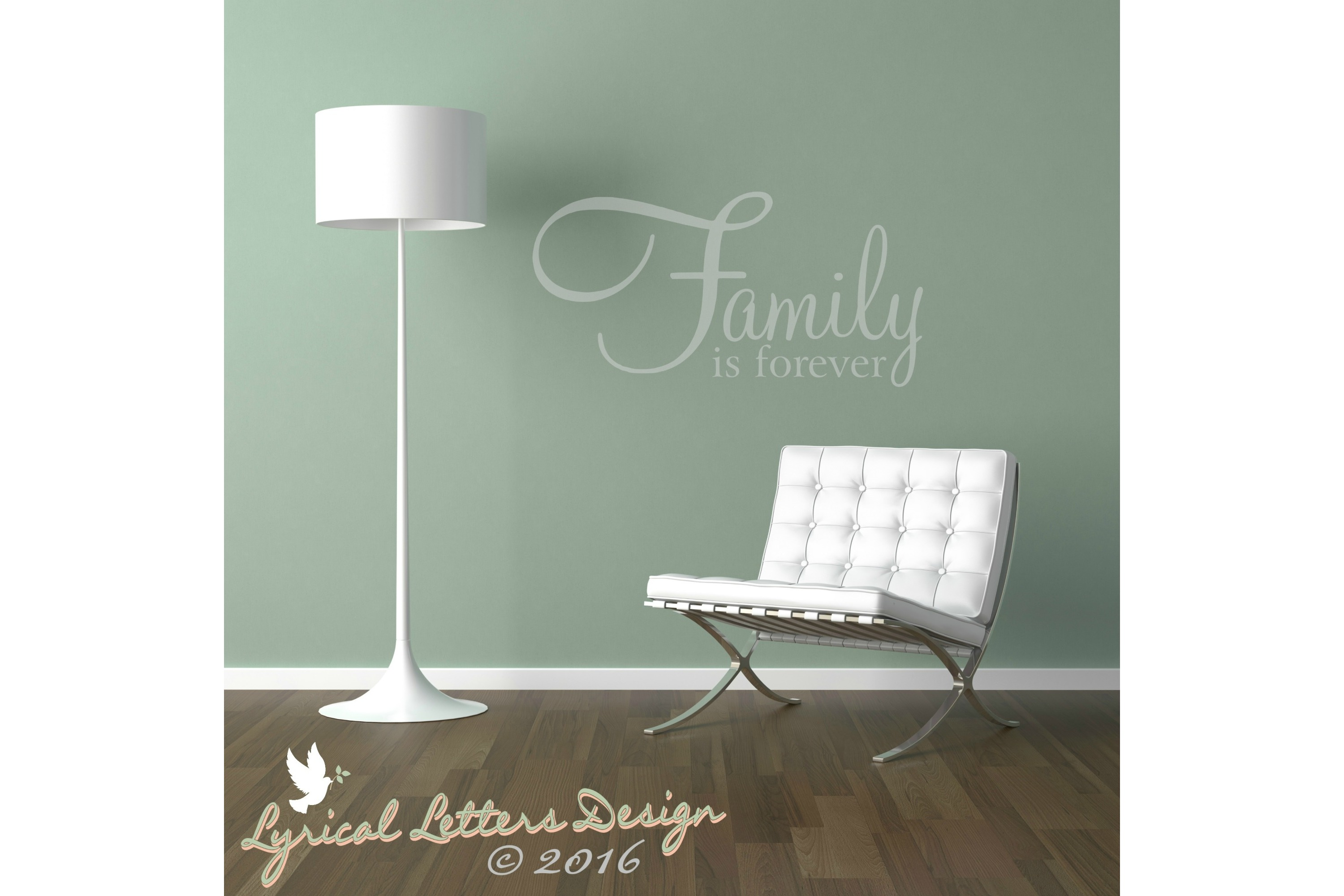 Family Is Forever SVG DXF FCM Cut File LL010E example image 2