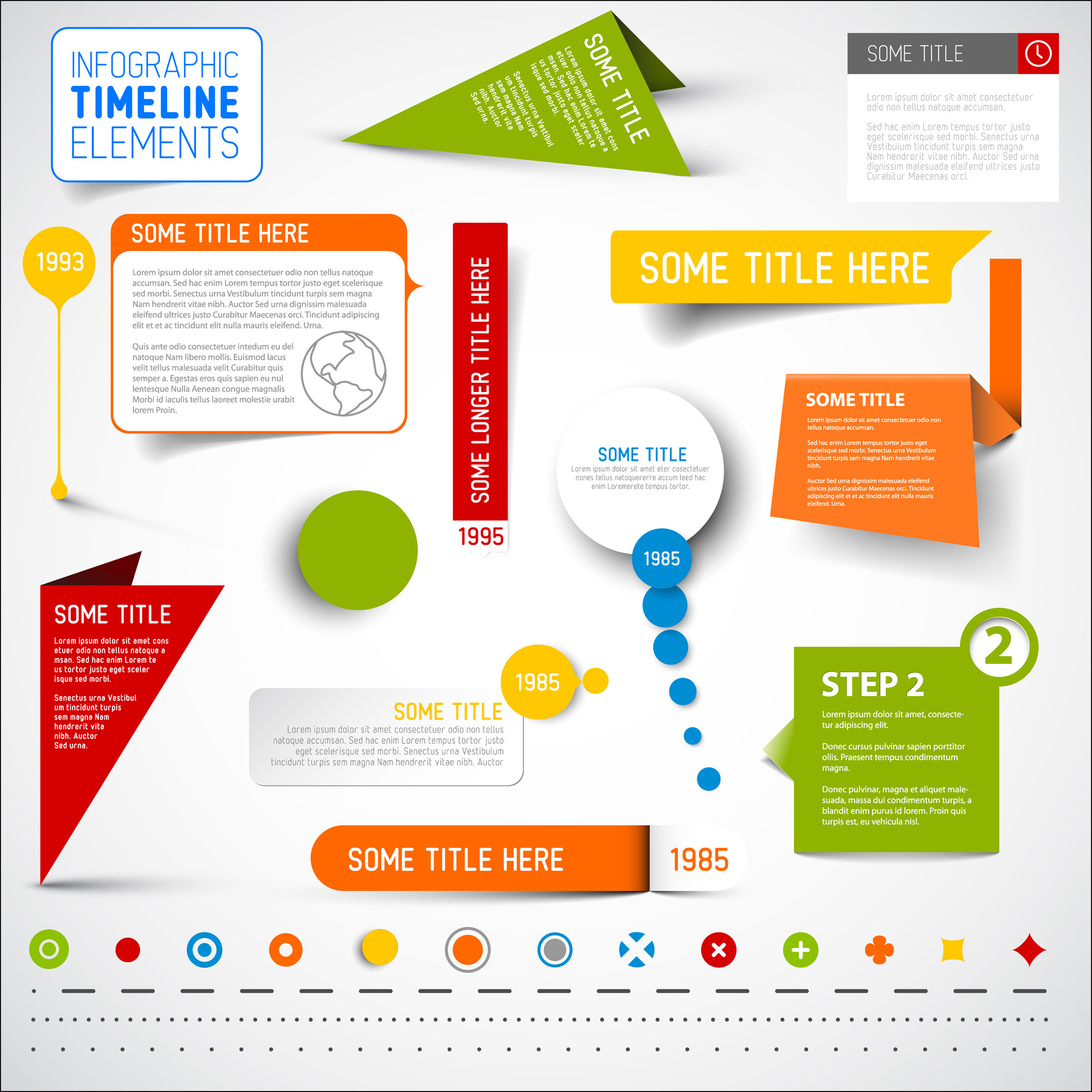 Infographic Timeline Templates Bundle example image 8