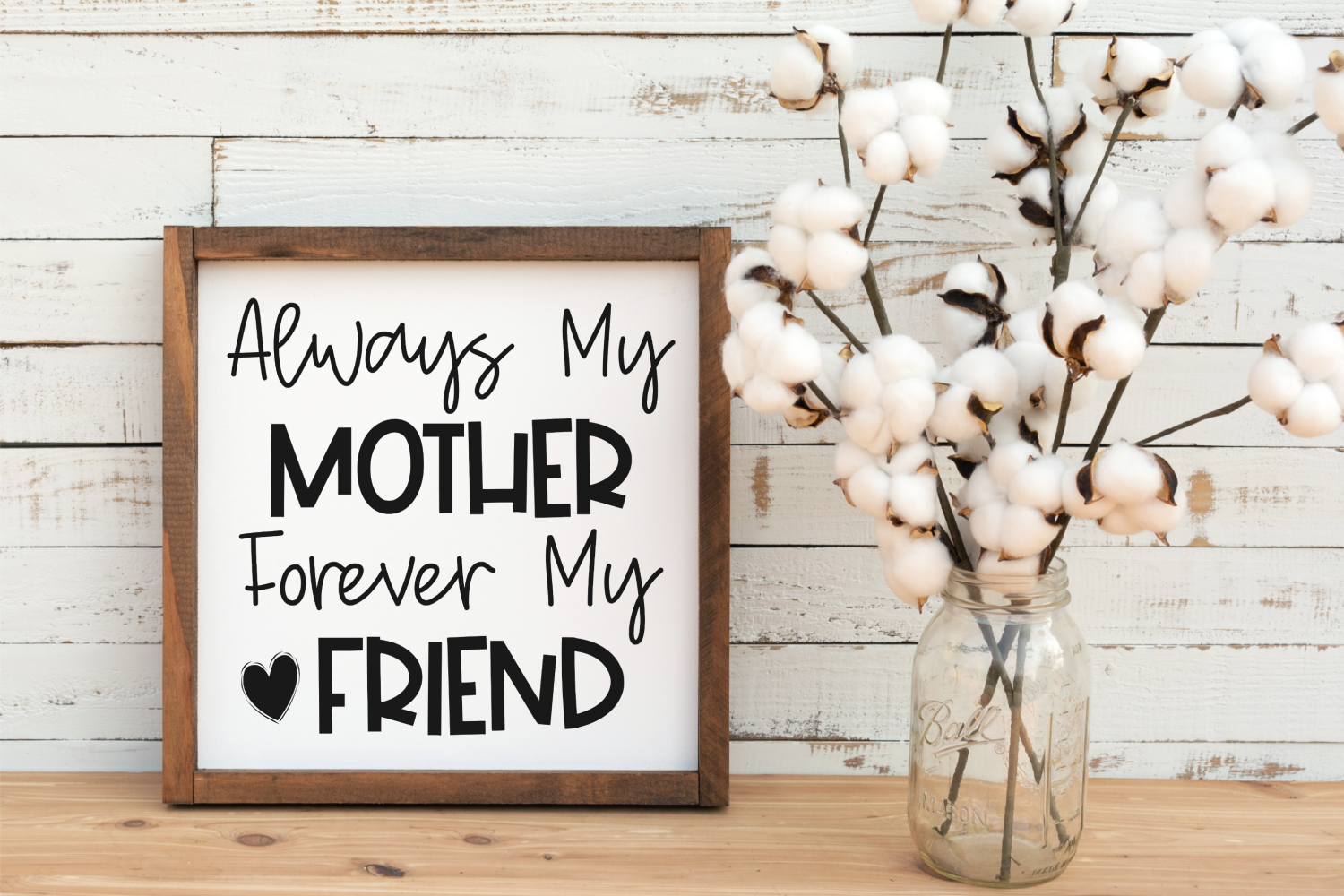 Always My Mother Forever My Friend - Mom - Mother's Day SVG example image 2
