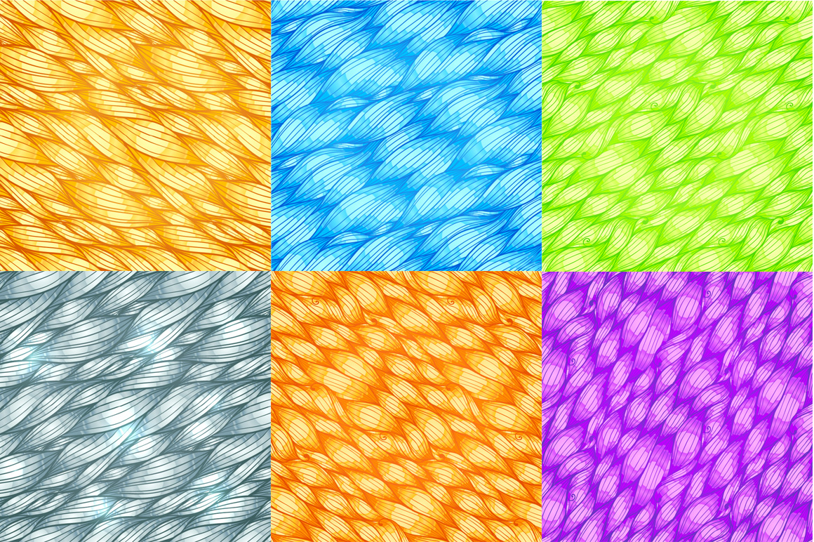 24 hand-drawn seamless patterns example image 3
